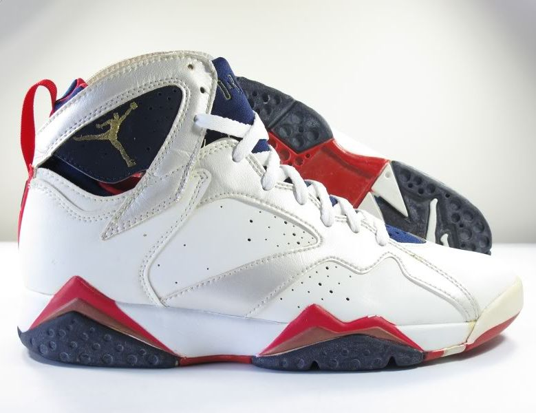 4da1ce207c35ee The sneaker we re taking a look at for The Daily Jordan today is the  original Air Jordan VII  Olympic . The pair arrived in the summer of 1992