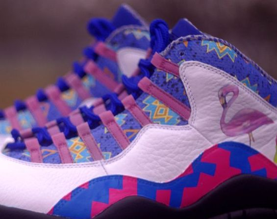 "Air Jordan X: ""Saved by the Bell"" Customs by Rocket Boy Nift"