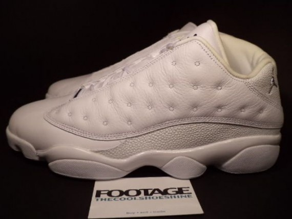 air jordan 13 low all white