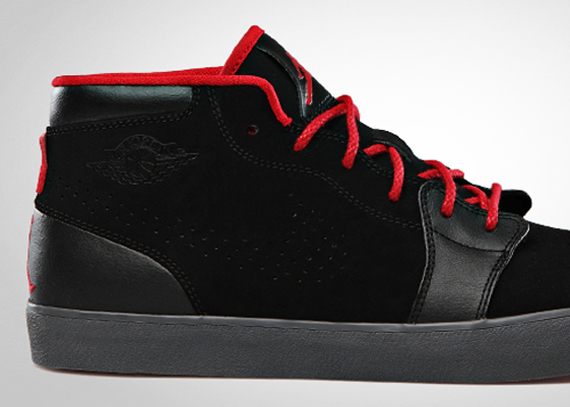 Jordan AJ V.1 Chukka: Black  Gym Red