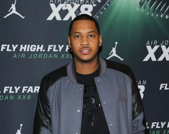 Carmelo Anthony Wearing Air Jordan III Oregon Pit Crew