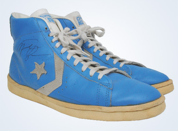 Converse Pro Leather  Michael Jordan Game Worn Autographed OG Auction