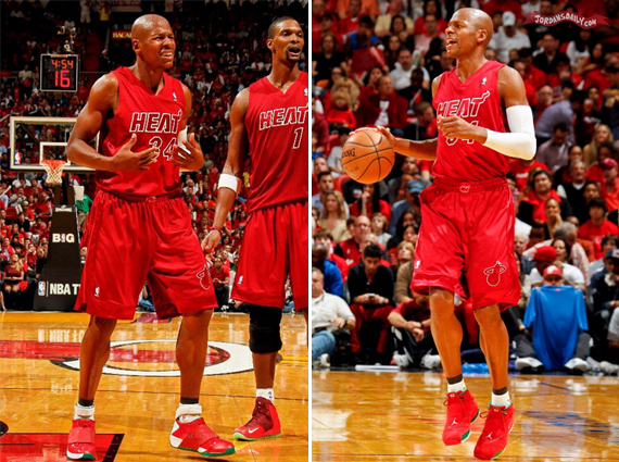 Ray Allen Air Jordan XVIII + XX Christmas PEs