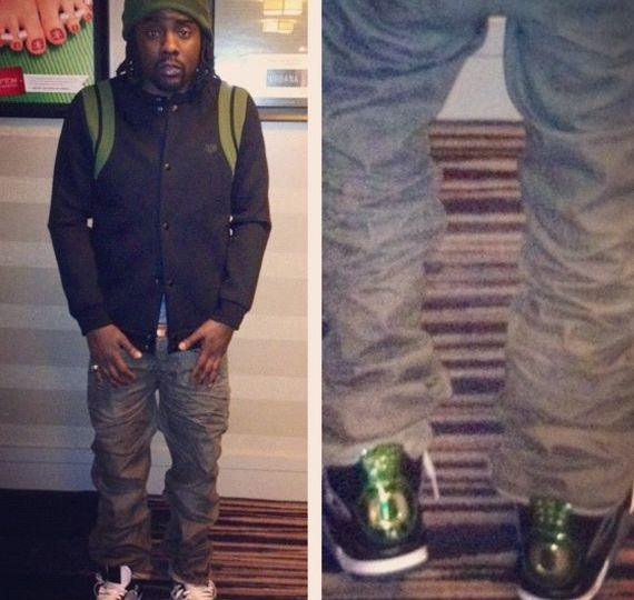 Wale Wearing Air Jordan IV Oregon Ducks