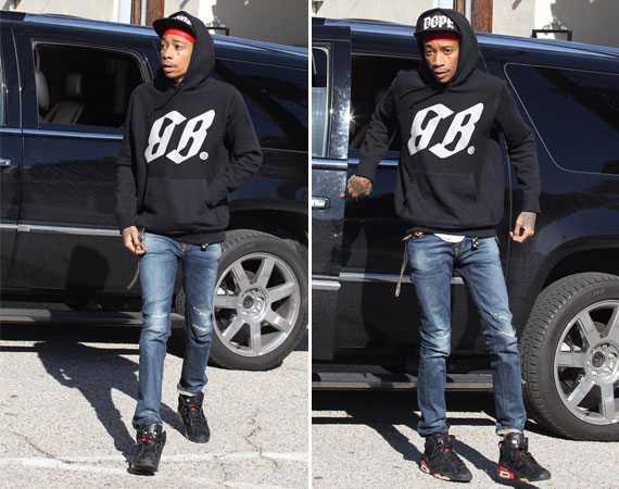 Wiz Khalifa Wearing Air Jordan VI