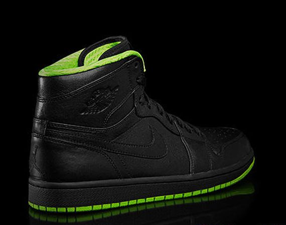 Air Jordan 1: Black/Neon Green Collection