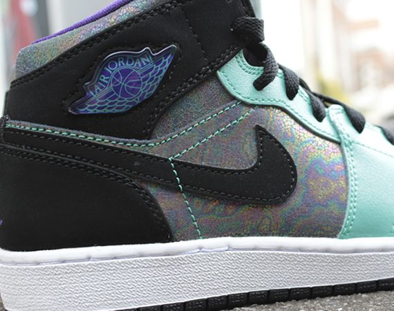 Air Jordan 1 GS: Black   Silver   Purple