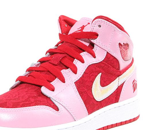 Air Jordan 1 Mid Premium GS Valentines Day