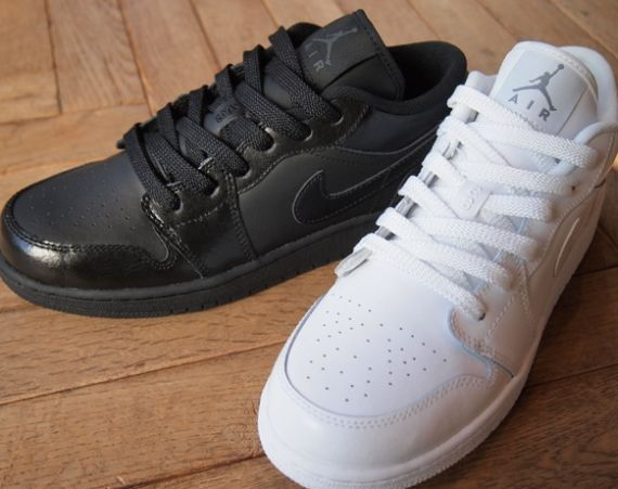 Air Jordan 1 Retro Low: White + Black