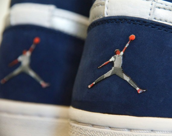 Air Jordan 1: White/Navy   Jumpan Logo Sample