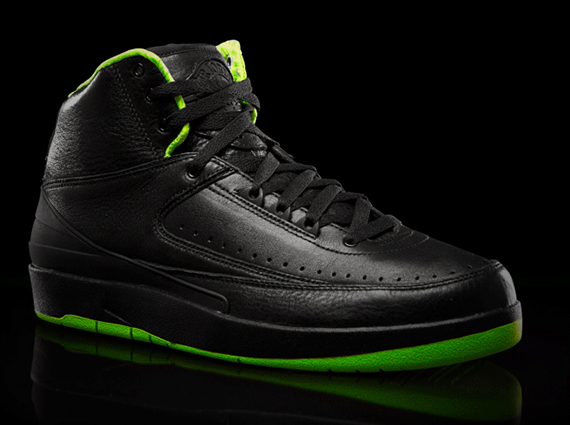 Air Jordan II: Black/Neon Green Collection
