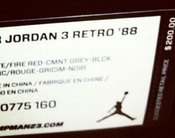 Air Jordan III: Retro 88 Retail Price