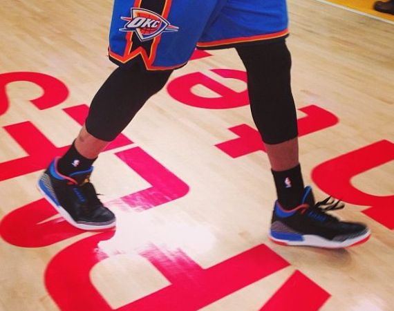 Air Jordan III Thunder Russell Westbrook PE