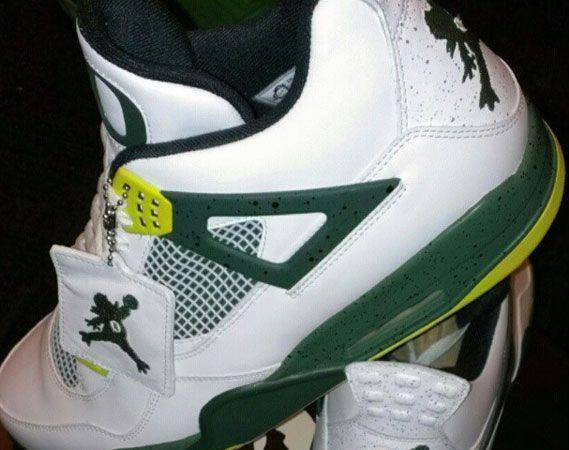 """Air Jordan IV: """"Duckman"""" Oregon PE"""