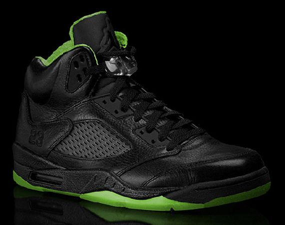 Air Jordan V: Black/Neon Green Collection
