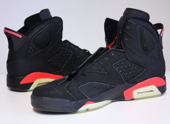 The Daily Jordan: Air Jordan VI   Black   Infrared   1991