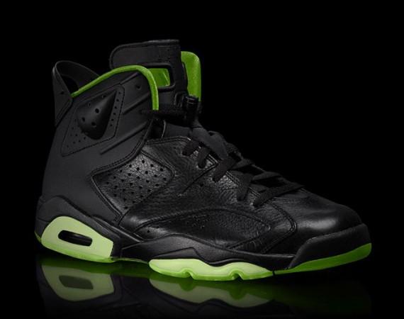 Air Jordan VI: Black/Neon Green Collection