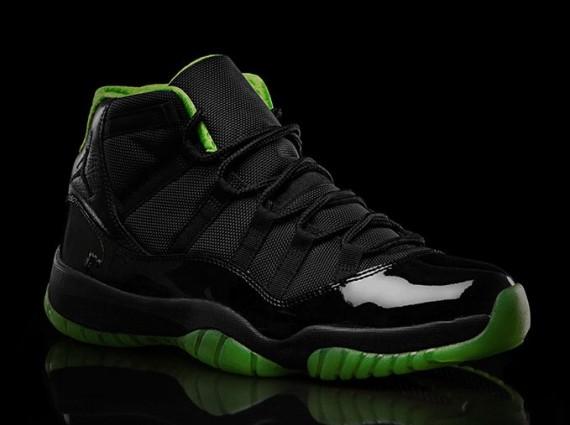Air Jordan 11 Black Neon Green Collection