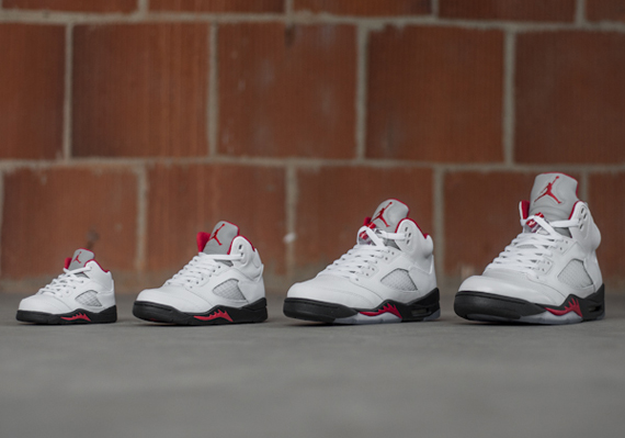 Air Jordan V:  White  Fire Red  Black | Release Reminder