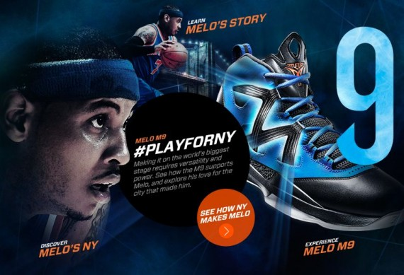 Jordan Melo M9 Lock and Launch Minisite