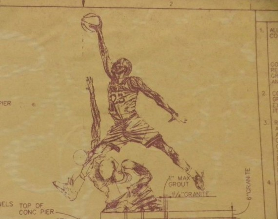 Vintage Gear: Michael Jordan United Center Statue Blueprint