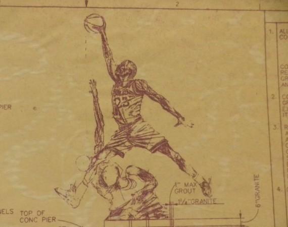 Vintage Gear: Michael Jordan United Center Statue Blueprint