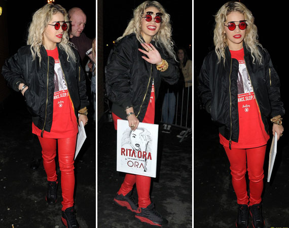 Rita Ora Wearing Air Jordan XIII Bred
