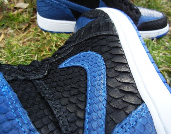Air Jordan 1 Royal Python Customs by JBF