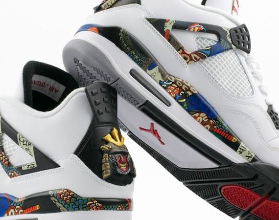 Air Jordan IV: Samurai Customs by El Cappy