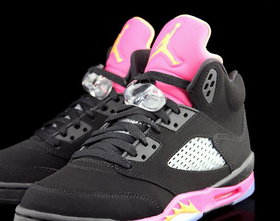 Air Jordan V GS: Bright Citrus   Fushion Pink