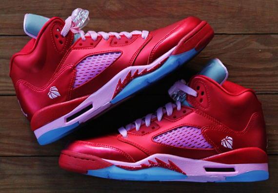 Air Jordan V GS   Gym Red   Ion Pink