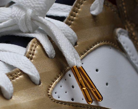 "Air Jordan VII: ""Olympic Gold Medal"" Customs by Dank"