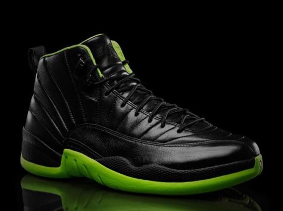 Air Jordan 12 Noir Et Vert