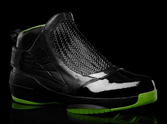 Air Jordan XIX: Black/Neon Green Collection