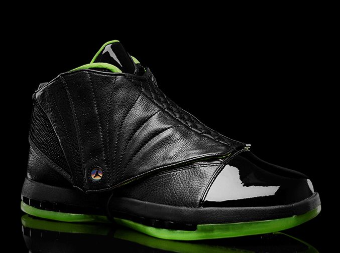 "eaaa912cfdb16a The Air Jordan XVI from the ""Black Neon Green"" Air Jordan collection is one  that might a bit hard to stomach"