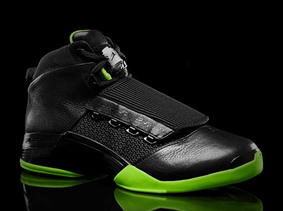 """854500f7dca66b Today it s the Air Jordan XVII s time to shine in the """"Black Neon Green""""  collection of Air Jordan samples that has been whipped up for the XX8 Days  of ..."""