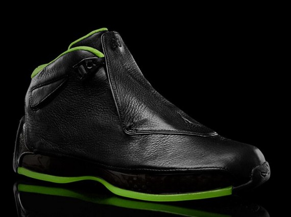 Air Jordan XVIII: Black/Neon Green Collection