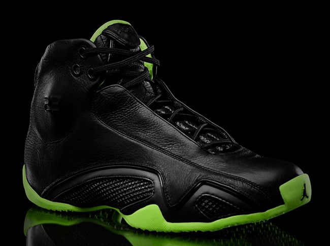 "fe5122a441326e 21 days later and here we are at the Air Jordan XXI ""XX8 Days of Flight"".  The sneaker keeps things in line with the expected black and neon green  formula"