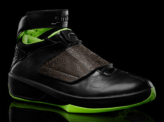 "eccfc77b243db1 The Air Jordan ""Black Neon Green"" collection is in its final stretch at the  moment. Today brings us the Air Jordan XX from the group"