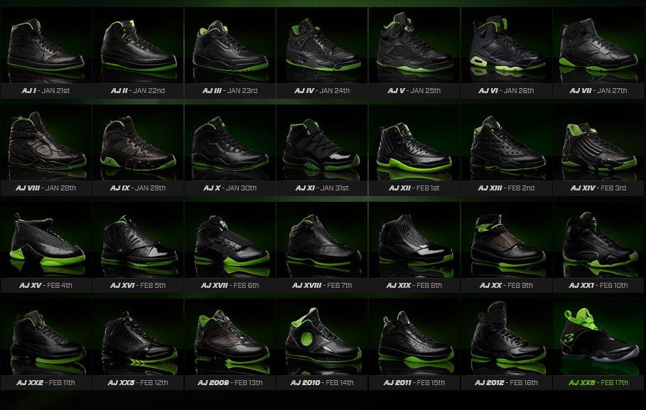 Air Jordan Xx8 Days Of Flight Collection Air Jordans Release