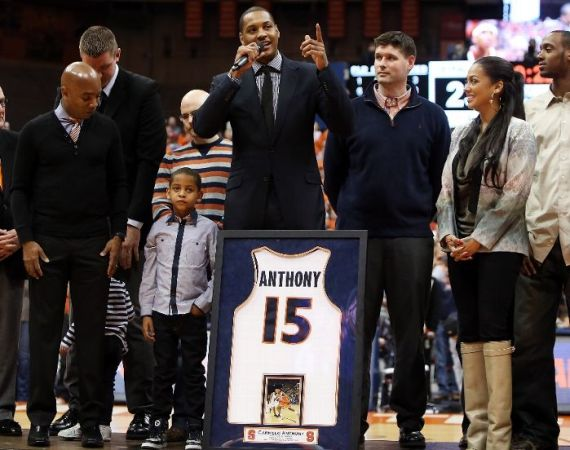 Syracuse Retires Carmelo Anthonys Jersey