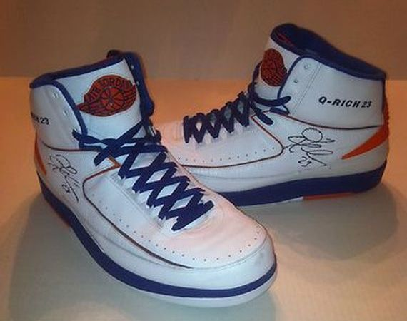 "Air Jordan II: Quentin Richard Game Worn Autographed ""Knicks"" PE"