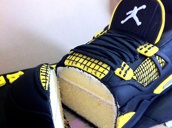 """Air Jordan IV """"Thunder"""" Sneaker Cake"""