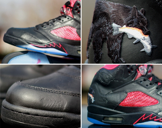 "Air Jordan V: ""Winnipeg"" Customs by Rocket Boy Nift"