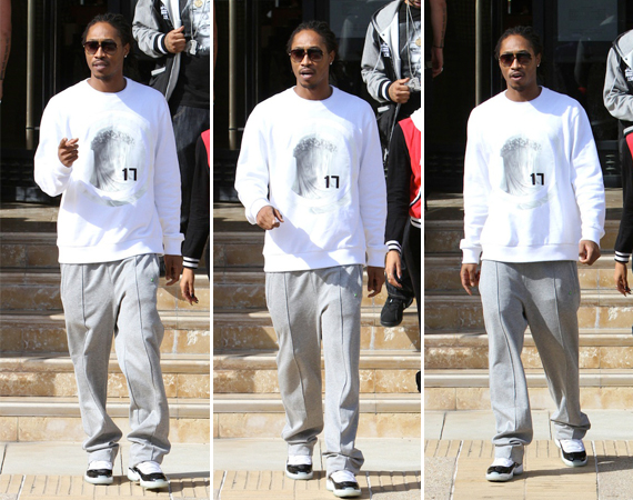 Future Wearing Air Jordan XI Concord