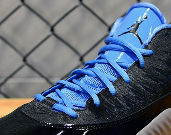 Jordan Super.Fly Low: Black   Metallic Silver   University Blue