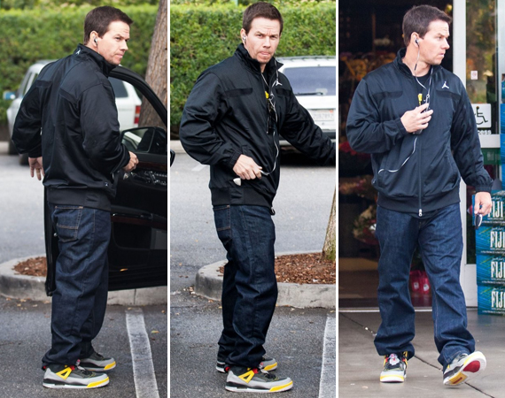 Mark Wahlberg Wearing Jordan Spizike 3M