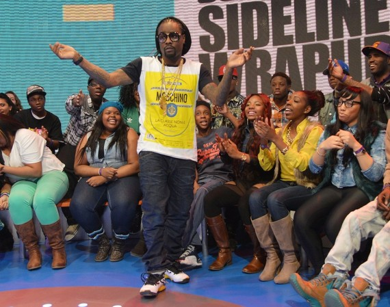 Wale Wearing Air Jordan XVII Lightning