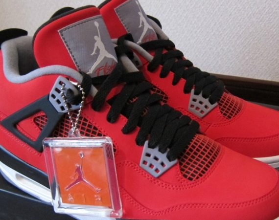 "Air Jordan IV: ""Fire Red Nubuck"" on eBay"