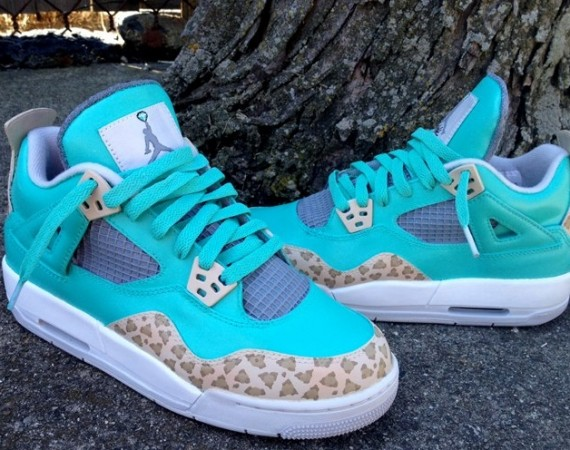 Air Jordan IV: Tiffany Cheetah Customs by DeJesus